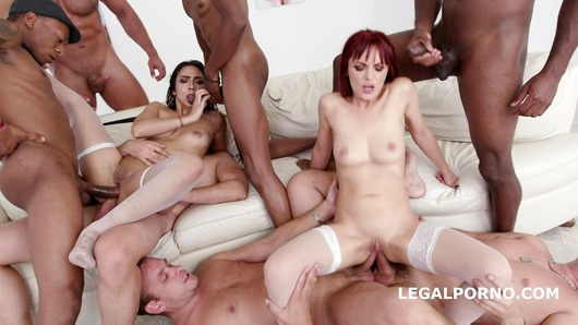 Dominica Phoenix in Lilly Hall Vs Dominica Phoenix #2 Balls Deep anal, 7on2 Dap, ATOGM, Gapes, Multiple Swallow GIO774