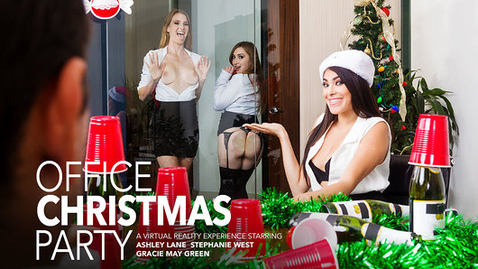 Ashley Lane in Three Girls Fuck You After The Holiday Party