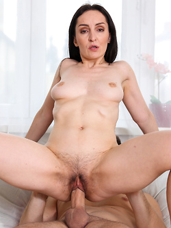 Brunette MILF Devi Di has great makeup sex after a fight