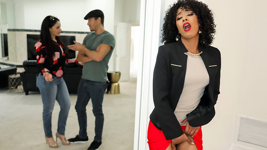 Misty Stone isn't your typical real estate agent - she's a horny MILF who's ready to fuck any client who suits her fancy, whether they're single or not. Today she is showing a house to a newly engaged couple. Misty, who loves nothing more than a challenge, sneakily separates Xander Corvus and his fiance before fucking his brains out right under his future wife's nose. (Video duration: 37 min)