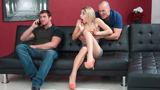 The amazing Abella Danger comes home with her new boyfriend from a lovely dinner, but little do these two love birds know that Abella's ex is hanging around waiting for her to suck and fuck his big cock! Sean Lawless hides behind the couch when he realizes that Abella isn't alone, but that doesn't stop him from trying to bone this big booty beauty! Sean and Abella sneakily catch up by continuing to fool around behind this new boyfriend's back and while he's busy chatting on his phone, Sean's pounding his date's pussy down the hall! Will this guy ever figure out that he's not getting laid tonight? One thing's for sure: Abella's ex fucks her the best!