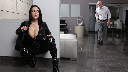 Busty Angela White is a renowned, sex-crazed cat burglar, and she's targeted Zach Wild's home safe as her next major score. Clad in her skimpy catsuit, Angela breaks into Zach's house, narrowly avoiding him as she stalks about. But once she arrives at Zach's study, she finds that he's ended up there as well. Luckily for Angela, she has the element of surprise on her side, and she's able to tie Zach up and then break into his safe. With her loot secured, Angela turns around and notices Zach's rock hard cock, which convinces her that there's an even bigger score in play. (Video duration: 36 min)