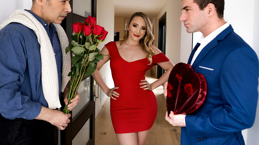 It's not easy being so popular. Having three boyfriends is hard work, especially when they all want to spend Valentine's Day with you. To even the playing field, AJ Applegate decides that the gentleman who gives her the best gift will earn the pleasure of her special Valentine surprise; anal sex! (Video duration: 36 min)