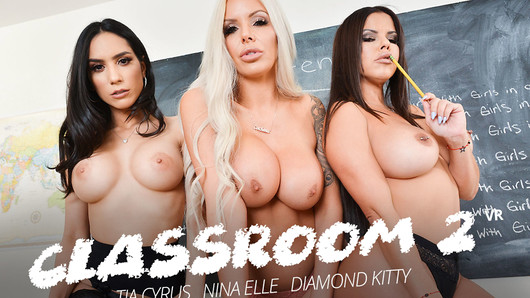 Diamond Kitty in Detention time with Diamond Kitty, Nina Elle, and Tia Cyrus