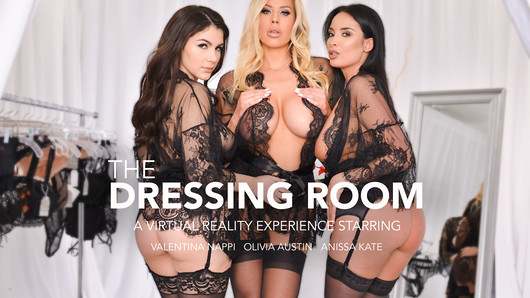 Anissa Kate, Olivia Austin, and Valentina Nappi are trying on some lingerie in front of you.  Lucky You!  After they pick out what they like they decide that it's time to treat themselves to some dick. (Video duration: 47 min)