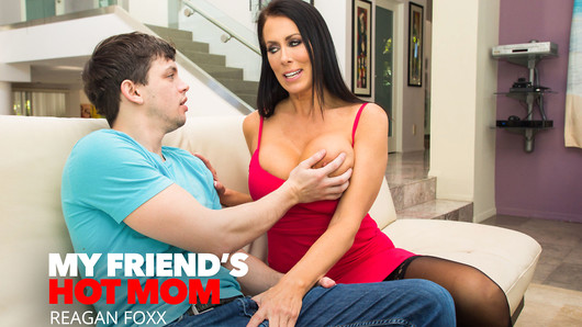 When Alex stops by his friend's house, he's greeted by the beautiful and sexy, Reagan Foxx. She lets Alex know her son won't be home for a while and to chat with her and keep her company. When she finds out Alex is lacking confidence with women because he hasn't been with any, she jumps on the opportunity  to show him how to take care of a woman in the bedroom. (Video duration: 37 min)