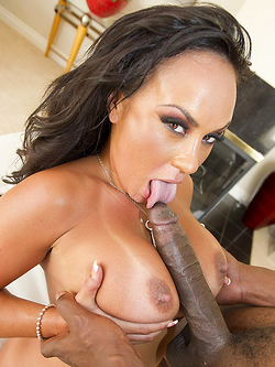Mariah Milano gets impaled by a huge black cock