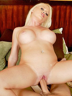 Angel Vain gets her bodacious boobs jizzed