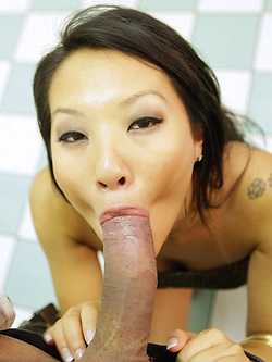 Asa Akira offers some guy the fuck of a lifetime