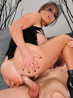 Krissy Lynn gets her oiled up butt drilled hard