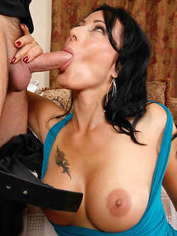 Zoey Holloway makes him prove he loves cougar pussy