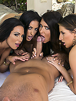 Jessica Jaymes groupsex with Breanne Benson Kortney Kane and Kirsten Price