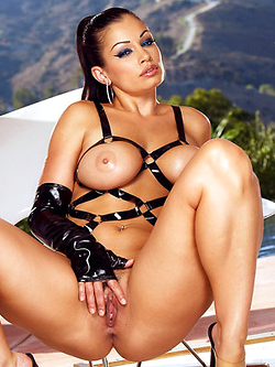 Aria Giovanni shows off her amazing body in this fetish set