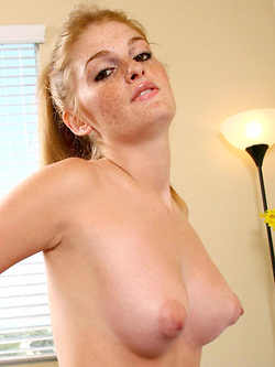 Faye Reagan stripping naked in her bedroom