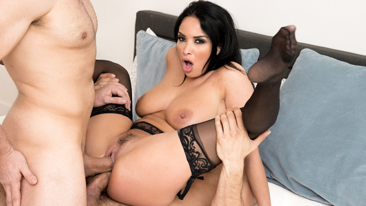 Super hot babe, Anissa Kate get's ready for an intense Double Penetration with Danny Mountain and Will Pounder! This hot slut loves to get her tight holes stretched wide open!