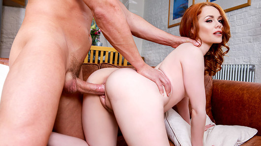 Returning today is the saucy redheaded star Ella Hughes and she is in need of our expert Repairmen in Action for a certain kind of satisfaction. After seeing Marc Rose get to work Ella decides she wants more than just a coat of paint and puts on a show in front of the window enticing in the lucky handyman. Then watch as this horny redhead gets her hairy pussy eaten before returning the favour with a spectacular blowjob, warming up and getting ready for a hard pounding that has that beautiful ass shaking all the way to a juicy creampie. (Video duration: 26 min.)