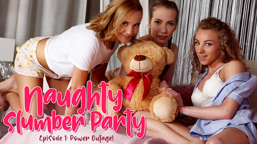 Angel Emily in Naughty Slumber Party: Power Outage!