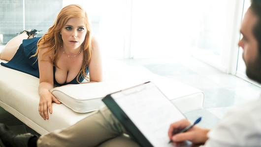 Buxom beauty Penny Pax comes on to her psychoanalyst Logan Pierce, and after a short tepid spat of resistance, he gives in to her crazy sensual desires.