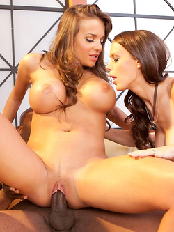 Nika Noire and McKenzie Lee get down and dirty in this interracial threesome