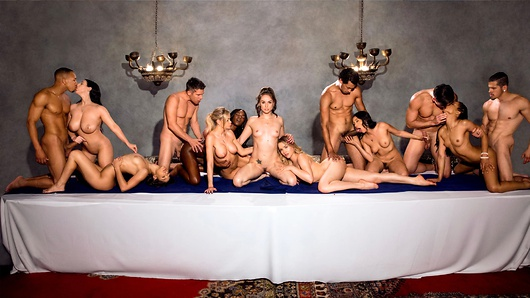 The last night of freedom is upon Tori. An extravagant meal that will satisfy every sense; explore every fantasy, and leave no erotic request unfulfilled. It's time for the crescendo until at last, the outcome reaches its climax. It's time for the last supper. Starring: Tori Black, Mia Malkova, Vicki Chase, Kira Noir, Ana Foxxx, Abella Danger, Jessa Rhodes, Angela White, Ricky Johnson, Mick Blue, Bambino, Ryan Driller, Alex Jones. (Video duration: 1:00:20)