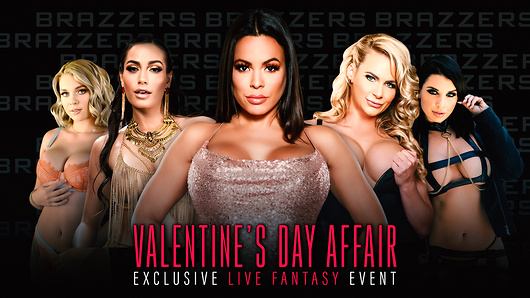 Brazzers Valentine's Day Affair was shot and broadcasted LIVE on February 14th, 2020. The once in a lifetime event delivered glamour, fantasy and the industry's top talent giving it their all in an unforgettable orgy. Set at a lavish California home, Brazzers' biggest stars mingled, flirted, and ultimately fulfilled their wildest Valentine's Day fantasies in an hour of uninterrupted live sex. Missed the party? Not to worry, watch the full unedited event right now. Starring: Demi Sutra, Desiree Dulce, Emily Willis, Gabbie Carter, Ivy Lebelle, Maria Antonella, Luna Star, Phoenix Marie, Valentina Nappi, Whitney Wright. (Video duration: 121 min)
