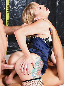 Adrianna Nicole gets double penetrated by two criminals