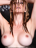 Heather Vandeven rising from the water like a goddess