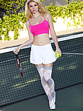 Heather Vandeven gets naked and kinky on the tennis court