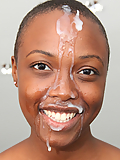 Mariah Hill gets her pretty face covered in fresh jizz