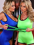 Alanah Rae competes in the ring with Nikki Benz for the same cock