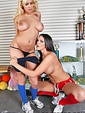 Mackenzee Pierce shares his hard cock with Lylith Lavey