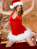 Faye Reagan peels off her sexy Christmas outfit