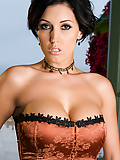 Dylan Ryder peeling off her sexy corset and stockings