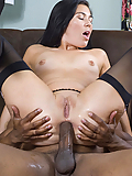 Ashley Blue gets her gaping ass slammed by a fat black cock