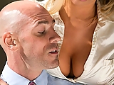 Tasha Reign's been turning heads at work. The prudish chicks at the office just can't handle the way this slutty babe dresses. Her boss doesn't mind, all the guys love to see her big tits spilling out of her shirts. Johnny's got a plan to fix things, so he takes Tasha aside and drills into her a new taste for following the rules.