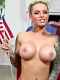 Christy Mack takes care of a war veteran's boner on the 4th of July