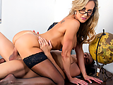 Xander's homely professor Brandi Love is being quite the witch while he's trying to finish his exam, busting his balls and telling him to get his act together. He's only got about 30 minutes to complete the test, but he falls asleep when she briefly leaves the classroom, only to wake up and find Ms. Love looking like a smokin' hot MILF! She shoves her big ass into his face, then shows him the huge tits he never thought he'd see. Xander knew his teacher was hot! She takes it a step further and blows her student in the classroom, only to find he's got a big dick that she wants up her wet MILF pussy! But was it all a dream?