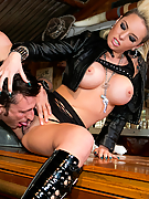 Christy Mack gets drilled in the middle of a biker bar
