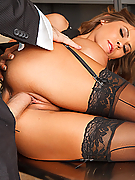 Madison Ivy gets her tight box stuffed with the bank manager's dick