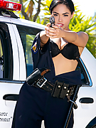 Selena Rose gets drilled by his huge cock on top of her police vehicle