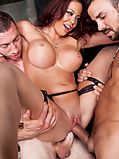 Mia Lelani gets double penetrated by two fat cocks