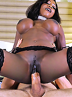 Diamond Jackson fills all of her holes with his huge dick