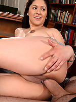 Connie Berry naughty coed gets drilled by the headmaster in his office