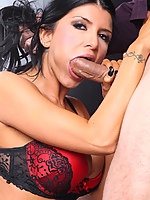Romi Rain screws the handsome gangster in his office