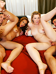 Sierra Day and Sohley Cancino enjoy a steamy foursome