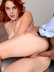 Amarna Miller wraps her lips and pussy around his throbbing cock