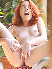 Amarna Miller sensually touching herself in the blistering sun