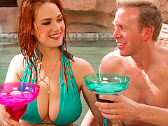 Mark is out taking a little vacation in Mexico. While chatting with his server, he believes that he sees his neighbor Siri get into the water. She walks over to Mark and her huge natural tits breach the pool surface as she stands up to take a seat! Siri came out here all by herself, and when she is out alone, she loves to create experiences. She's always wanted to create a neighborly experience with Mark, and it leaves a taste in her mouth that's not hard to swallow.