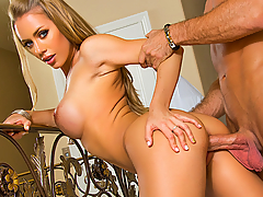Nicole Aniston's neighbor stops by, and she confesses to him that split up with her fiancee. This actually pleases him, as he has always found Nicole attractive. Nicole confesses that she's always found him attractive as well. With Nicole's fiancee out of the way, she and her neighbor are free to fuck now.