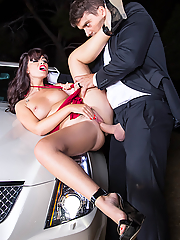 Ava Dalush gets fucked hard on the hood of her car